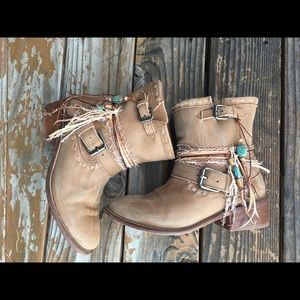 fea5d1baadd JB Miller Shoes | Boho Upcycled Cowgirl Boots | Poshmark